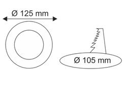 Helios Opto 6w Sıva Altı Yuvarlak Panel